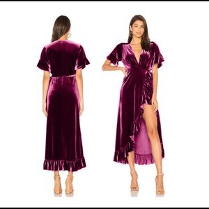 Misa Los Angelos Selina Wrap Dress Size Large
